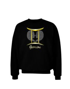 Gemini Symbol Adult Dark Sweatshirt