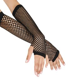 2016 New Arrival Punk Women Gloves Goth Lady Disco Dance Costume Lace Fingerless Mesh Fishnet Gloves Luvas De Inverno Teen Fashion Outfits, Edgy Outfits, Cute Outfits, 80s Fashion, Party Fashion, Style Fashion, Long Gloves, Black Gloves, Rock Costume