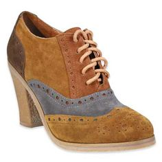 Wanted Shoes, Jet High Heel Oxford, $60