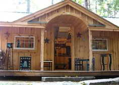 The Gibraltar Cabin can be ordered as a prefab cabin, a cabin kit or a set of cabin plans. Visit Jamaica Cottage Shop for all your Gibraltar Cottage needs! Wooden Playhouse Kits, Build A Playhouse, Simple Playhouse, Garden Playhouse, Indoor Playhouse, Cabin Plans, House Plans, Model Boat Plans, Prefab Cabins