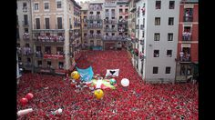 Revelers in the Streets of Pamplona, Spain- The Festival of San Fermin (made famous by the annual running of the bulls) People Around The World, Around The Worlds, Running Of The Bulls, Spanish Men, Opening Day, Travel News, Crazy People, Plan Your Trip, Pamplona Spain