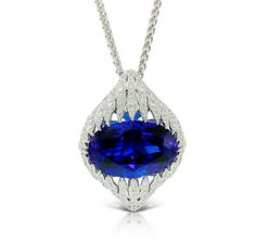 SJP Magnificent Icy Tanzanite Pendant by Kat Florence
