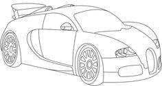 Hot Wheels Bugatti Veyron Coloring Page Bugatti Pinterest