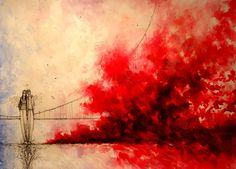 Love the reds in the mixed media artwork by marak24.