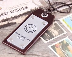 Personalzied Leahter Luggage Tag   Handmade by aimeehandmade