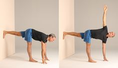 The wall can be an excellent prop when practicing yoga poses or other stretches that require balance and strength as well as flexibility.