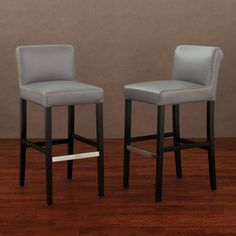 Counter stools set of 2 grey leather safavieh com - 1000 Images About Barstools On Pinterest Bar Stools
