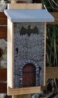 Bat Castle via Backyard Bird Company. As a school or family project, you can build a bat house for your backyard Bird House Feeder, Bird Feeders, Bat House Plans, Bat Box Plans, Gothic Garden, Backyard Birds, Animal House, Lawn And Garden, Bird Houses