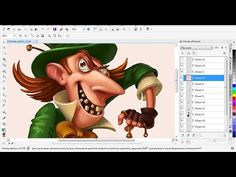 ▶ character sketching in PhotoPaint - YouTube