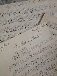 Like, share, repin :D   Enjoy    Music Composition Set of 3 FleaingFrance Brocante Society
