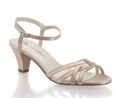 Satin Mid Kitten Heel P Toe Shoes And Paradox