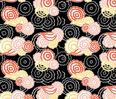 Delaunay Flowers 1b fabric by muhlenkott on Spoonflower - custom fabric