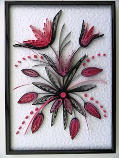 Find This Pin And More On Per Quilling Quilled Flowers Tableau Noir Et Rose