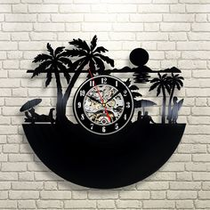 Amazing clock will become a unique decoration of any place.Exclusive wall clocks made from vinyl records will create the bright mood of your interior.