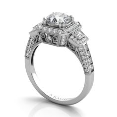 Engagement Ring by S.Kashi & Sons www.russellandballard.com