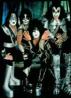 KISS:  Ace Frehley, Peter Criss, Paul Stanley, Gene Simmons.