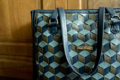 Exclusive nappa leather meshwork totebag by GroningsAtelier on Etsy