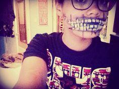 Skeleton mouth re do adding- fake blood ! - easy