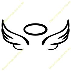 40 Best Angel With Halo Tattoo Outline Images Tattoo Outline
