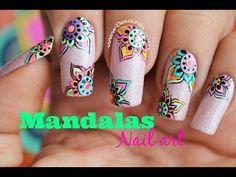 Gorgeous Nails, Pretty Nails, New Flame, Mandala Nails, Toe Nail Designs, Flower Nails, Nail Flowers, Nail Art Diy, Nail Tutorials