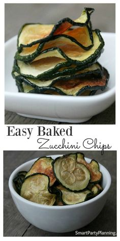 Baked zucchini chips are mouth-watering delicious.  This is an easy 'how to' recipe that you don't want to miss.  Give to the kids, serve at a party or replace your normal tv snacks.  Once you have tried these, you won't want to go back.  They are so easy to make and pretty healthy as snacks go too