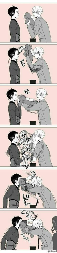 Yuuri must have been sick of being on the receiving end all the freaking time !