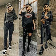 Source by Fashion outfits Edgy Outfits, Date Outfits, Cute Casual Outfits, Grunge Outfits, Grunge Fashion, Look Fashion, Autumn Fashion, Fashion Outfits, Cute All Black Outfits