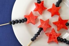 Festive fruit wands for your 4th of July celebration