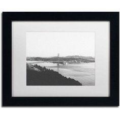 Trademark Fine Art 'Golden Gate BW' Canvas Art by Ariane Moshayedi, White Matte, Black Frame, Size: 16 x 20, Multicolor