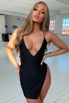 Sexy Outfits, Sexy Dresses, Girly Outfits, Femmes Les Plus Sexy, Black Girl Fashion, Shoulder Length Hair, Blonde Balayage, Blonde Highlights, Beleza