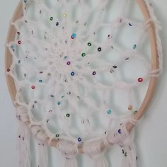 Here's a close-up vid of Stardust, my newest wall hanging. How lovely does this yarn look when the sequins catch the light? Wall Hangings, Craft Gifts, Close Up, Sequins, Artists, Wool, Handmade Gifts, Fabric, How To Make