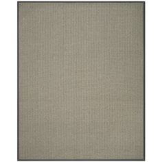 Safavieh Natural Fiber Collection NF444A Handmade Grey Brown and Grey Sisal Area Rug, 8 feet by 10 feet (8′ x 10′) #handmade The Safavieh Natural Fibers Collection uses premium, natural fibers to create beautiful, modern rugs.  These rugs are hand-woven of 100% natural seagrass.  The cotton backing adds durability, and protects your floors. These modern rugs will add a chic accent to your home. These rugs are made of natural materials such as jute, sissal, and sea grass These rugs ar..