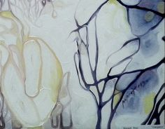"""Calm baby, calm"", Biophilia concept, part of exhib. 2013. oil on canvas by Maja Milkic, via Behance"