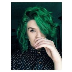 Best Emerald Green Hair Dye Set GREEN BAY hair chalk set of 6 Best ❤ liked on Polyvore featuring beauty products, haircare and hair color