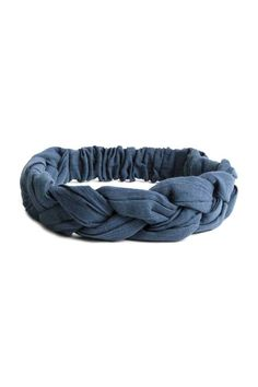 Braided hairband: Braided cotton hairband with covered elastic at the back.