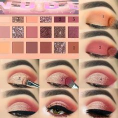 💗💗 _ Brows: Brow Game Strong all-in-one brow definer & brush in Medium & Brow Gel . Makeup Tips Eyeshadow, Soft Eye Makeup, Eye Makeup Steps, Makeup Eye Looks, Eye Makeup Art, Smokey Eye Makeup, Eyebrow Makeup, Beauty Makeup, Makeup Order