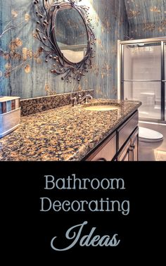 Bathroom decorating ideas - decor, interior design, accessories, rug, paint, color, vanity, cabinet, countertop, storage, light fixture, clutter, window treatments, curtain, blinds, shades