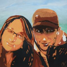 Akryl na plátně, 40 na 40cm.