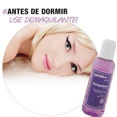 Não retirar a maquiagem antes de dormir é considerado um dos maiores pecados da beleza! Esse hábito pode causar acne ou outras infecções na pele, uma vez que a própria maquiagem guarda sujeiras, pó, poluição, suor, além de deixar os poros abertos e sem brilho. Confira dicas para remover a maquiagem antes de de dormir... http://www.veridicait.com.br/dica-de-maquiagem/antes-de-dormir-use-demaquilante/  #demaquilante #maquiagem #makeup
