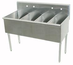600 Series 4 Compartment Floor Service Sink