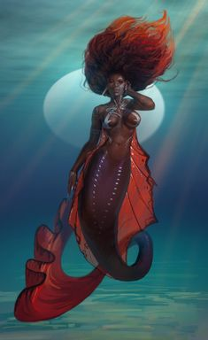 Getting back to the eternal struggle of making artwork outside of art work. Art Black Love, Black Girl Art, Art Girl, African American Art, African Art, Mermaid Artwork, Black Mermaid, Mermaids And Mermen, Black Artwork