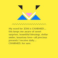Note with content: My word for 2016…