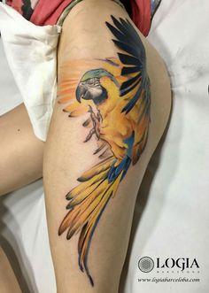 Loro Parrot Tattoo tatuaje