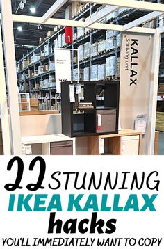 Are you looking for some cheap ways to organize your home? I have found some great IKEA Kallax hacks you can use to transform the look of your furniture and make it more functional and beautiful looking. #ikeahacks #ikeakallax Ikea Hack Storage, Ikea Kallax Hack, Kallax Shelf, Ikea Shopping, Do It Yourself Furniture, Best Ikea, Organizing Your Home, Home Renovation, Shelving