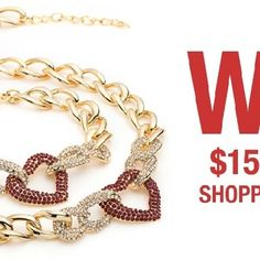 Jewelry Shopping - http://sweepsmeoffmyfeet.com/2015/01/26/jewelry-shopping/  Winit.lifeandstylemag is giving you a chance to win 1 'Love Your Heart' bracelet and necklace, plus a $1,500 jewelry shopping spree!   #Jewelry, #Shopping