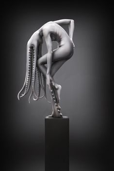 Kontorn Boonyanate - Mollusca (modeled in Zbrush and rendered in Keyshot) Mermaid Song, 3d Figures, Queen, Motion Design, Zbrush, Pottery Art, Sculpting, Contemporary Art, Graphic Design