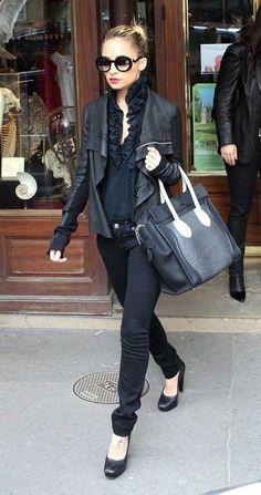 Leather Jacket Black & Black