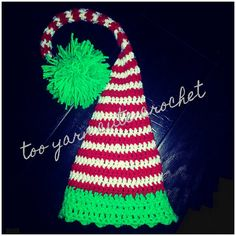Baby stocking cap / elf hat / Christm as photo prop! $24.95 https://www.etsy.com/listing/167092634/baby-christmas-stocking-cap-infant-elf