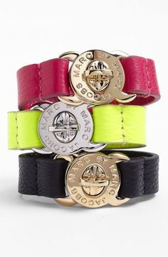 MARC BY MARC JACOBS 'Turnlock' Leather Bracelet available at Nordstrom