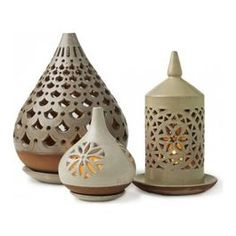 candle ceramic lanterns